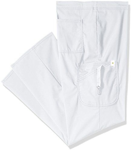 Code Happy Men's Drawstring Cargo Pant,White,Medium/Short
