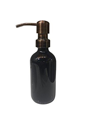 Industrial Rewind Black Soap Dispenser 8oz Glass Soap Dispen