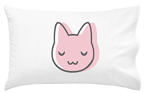 Oh, Susannah Pink Cat Toddler Size Pillowcase (1 Pillow Cover 14 x 20.5 Inches) - Cute Kids Pillowcase Kids Room Decor Cat Lovers Gifts