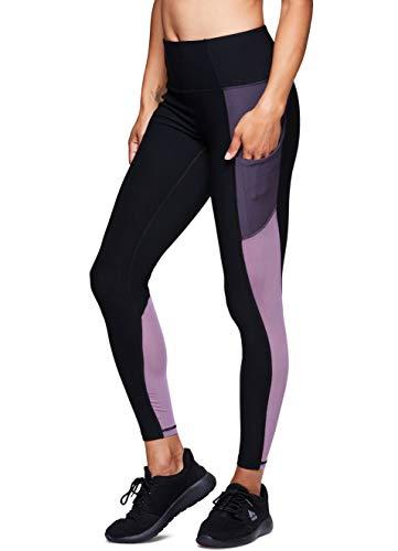 RBX Active Women's Gym Workout Yoga Leggings Colorblock Purple M
