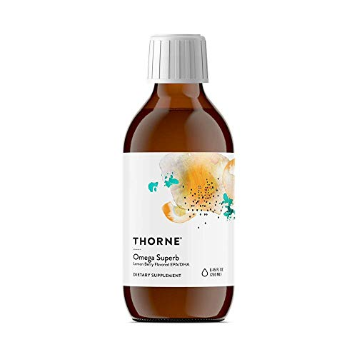 - Thorne Research - Omega Superb (Lemon Berry) - Easy Dosing Fish Oil Liquid with EPA and DHA - 8.45 fl oz (250 mL)