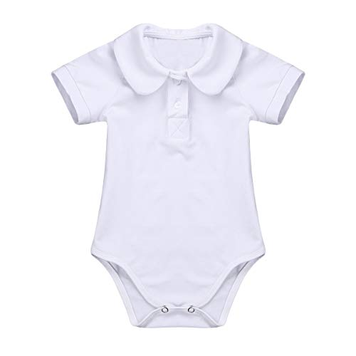 bb6fb25a iEFiEL Infant Baby Boys Long/Short Sleeves Gentleman Romper Jumpsuit Formal Dress  Shirt Bodysuit Ivory