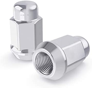 Metric 12x1.5 Threads StanceMagic 1.4 inch Width 23mm 20pcs Silver Bulge Lug Nuts uses 19mm or 3//4 inch Hex Socket 0.87 inch 36mm Length Large Conical Cone Taper Acorn Seat