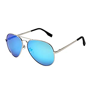 PGXT Premium Full Mirrored Aviator W/ Flash Mirror Lens Uv400 Sunglasses Eyewear