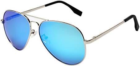 PGXT Premium Full Mirrored Aviator W/ Flash Mirror Lens Uv400 Sunglasses Eyewear