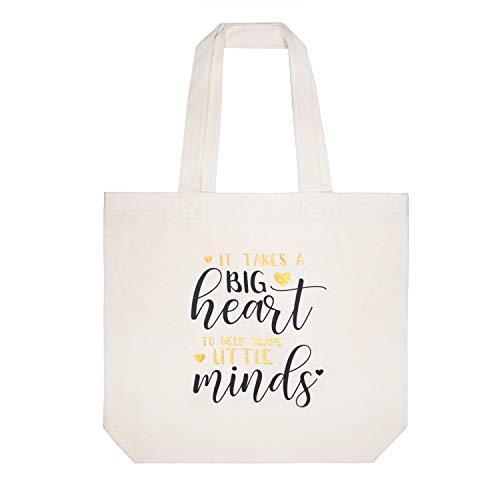 ElegantPark Canvas Tote Bag for Teacher Cotton Shoulder Bag Teacher Gifts