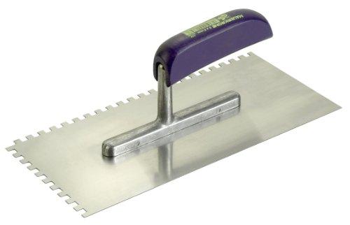 Connex COX781244 Zahnglättekelle, Stahl, Zahnung rechts und vorne, Größe 280 x 130 mm, Zahnung 4 x 4 mm