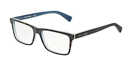 Dolce&Gabbana URBAN DG3207 Eyeglass Frames 2867-55 - Top Havana On Matte Petroleum - Gabbana And Dolce Glass Frames