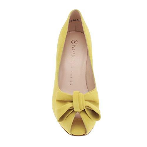 Peter En Desnuda Zapatos Suede Elegante Kaiser Lana Samos Toe Lemon Patente Crackle Peep YY6rgq