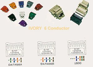 IC1076V0IV - Cat3 Jck 6Con. IVORY IC1076V0IV - Cat3 Jck 6Con. IVORY