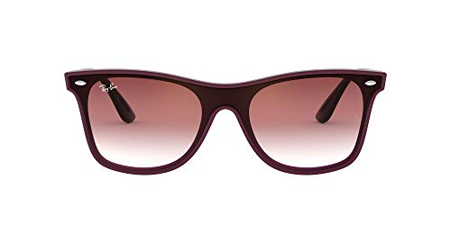 Ray-Ban RB4440NF Blaze Wayfarer Sunglasses, Bordeaux Demishiny/Dark Red Gradient Mirror, 44 mm (Sun-glasses.com)