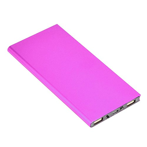 Mchoice 20000mAh Portable Cell Phone Pack Backup External Battery Power Bank Charger (Hot Pink)