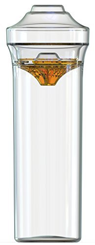 Shaker33 Cocktail Shaker Set, Large (24 Ounce), Clear with Sunset Orange Strainer]()