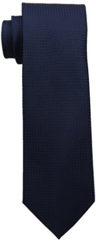 Calvin Klein Men's HC Modern Gingham Tie, Navy, One (Navy Blue Mens Tie)