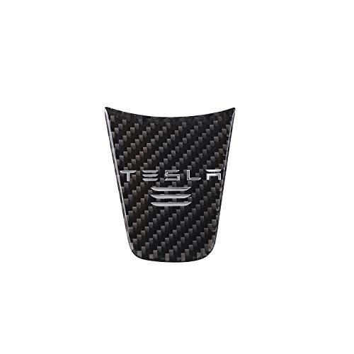 TopDall Car Interior Steering Wheel Cover,Car Carbon Fiber Steering Wheel Decoration Cover Sticker for Tesla Model 3 Model Three