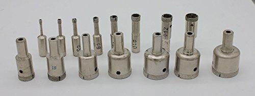 """Diamond Drill Bit Set 5/32"""", 3/16"""", 1/4"""", 5/16"""", 3/8"""", 1/2"""""""