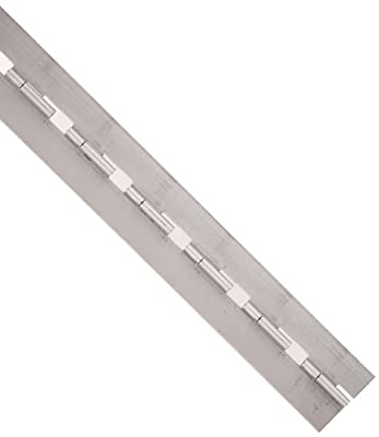 """Steel Lift-Off Continuous Hinge without Holes, Unfinished, 0.06"""" Leaf Thickness, 2"""" Open Width, 1/8"""" Pin Diameter, 1/2"""" Knuckle Length, 1.5' Long (Pack of 1)"""