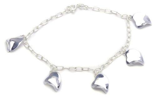 Bracelet - Femme - Coeur - Argent 925/1000 7.2 Gr