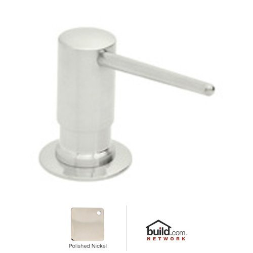 Rohl LS750LPN Luxury De Lux Shrouded Soap/Lotion Dispenser with 3-1/2-Inch Reach and One Touch System in Polished Nickel by Rohl
