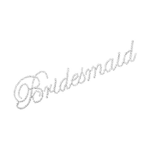 7 Wedding Party Bridesmaid Rhinestone Transfer Iron-On Hotfix Motif Applique DIY Craft ()