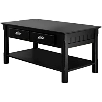 Amazoncom Convenience Concepts Oxford Coffee Table Black Kitchen