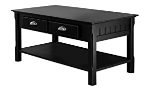 Amazon Com Winsome Wood Black Coffee Table Kitchen Amp Dining