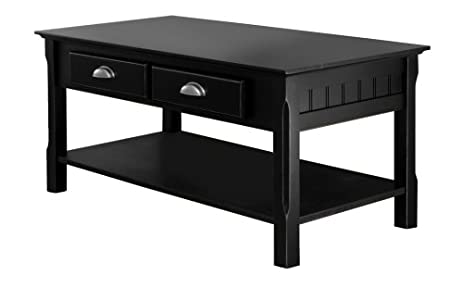 Amazoncom Winsome Wood Black Coffee Table Kitchen Dining