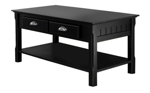 Winsome Wood Black Coffee Table Noticeable
