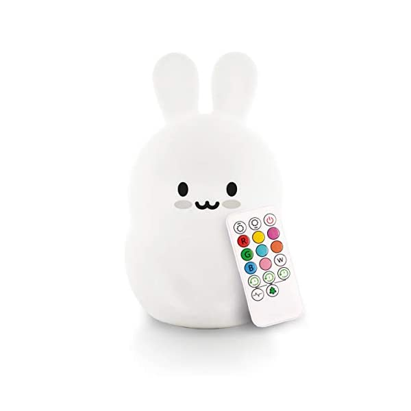 LED Nursery Night Lights for Kids: LumiPets Cute Animal Silicone Baby Night Light with Touch Sensor – Portable and Rechargeable Infant or Toddler Cool Color Changing Bright Nightlight Lamp Baby Gift