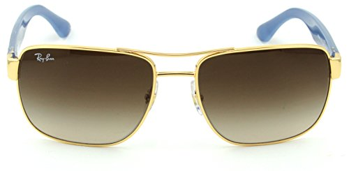 6c04440011 Ray-Ban RB3530 Unisex Square Metal Sunglasses
