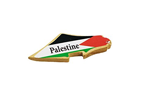Handmade and Hand Carved in Bethlehem- Olive Wood Magnet Palestine Map (2.5