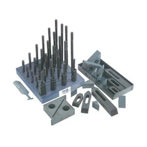 TE-CO 50 Piece Deluxe Clamping Set - Model .: 20219 Style: Heavy duty Number of Pieces: 50 STUD SIZE: 3/4''-10 T-Slot:1'' by TE-CO