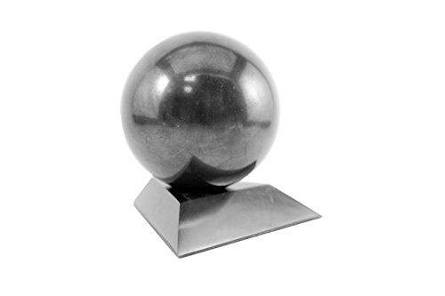 Shungite Sphere with a Stand 3 Cm (1 2 Inches) of Karelian Heritage  Company, Stone Sphere S164