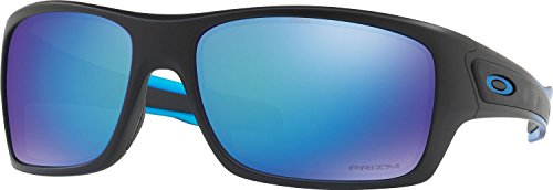 Oakley Men's Turbine Polarized Iridium Rectangular Sunglasses, Sapphire Fade, 63 - Sunglasses Blue Oakley