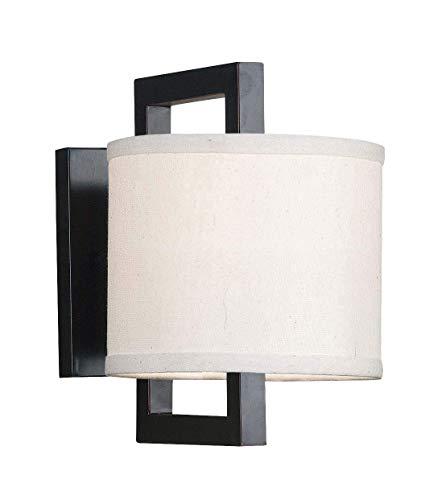 - Kenroy Home 10063ORB Endicott 1-Light Sconce, Blackened Oil Rubbed Bronze