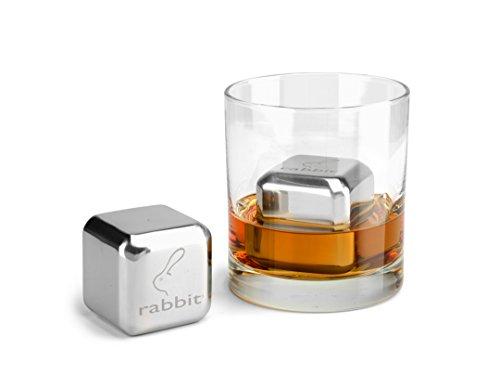 Rabbit Whiskey and Beverage Jumbo Chilling Stones Set (Chrome) by Rabbit (Image #1)