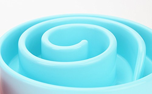 Idepet-Fun-Feeder-Slow-Feed-Interactive-Bloat-Stop-Pet-Dog-Cat-Bowl-Snail-Shape-Design-Blue