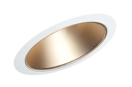 (Juno Lighting 612WHZ-WH 6-Inch Standard Slope Downlight Reflector Cone, Wheat Haze Baffle with White Trim)