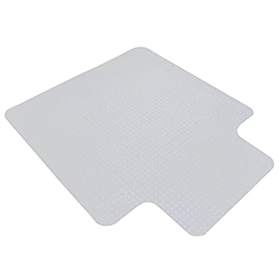 """Super Deal 48"""" x 36"""" PVC Home Office Floor Chair Mat Studded with Lip 3mm Thick For Carpet"""