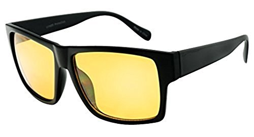 SunglassUP Day and Night Anti-Glare Driving Sun Glasses Clearsight Yellow Lens Sunglasses (Black, - Yellow Fashion Glasses Tinted