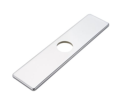 BWE Chrome Square 10 Inch Kitchen Sink Faucet Hole Cover Deck Plate Escutcheon