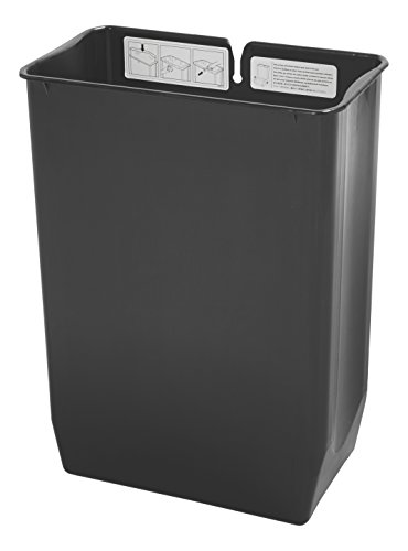 Rubbermaid Commercial Replacement Rigid Liner for Slim Jim Stainless Steel Front Step-On Wastebasket, for End-Step Containers, 8-Gallon, (1900680) ()