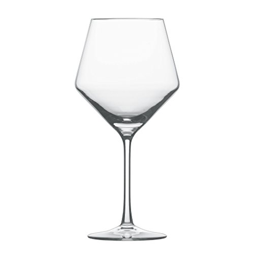 Schott Zwiesel Tritan Crystal Glass Pure Stemware Collection Burgundy Red Wine Glass, 23.4-Ounce, Set of 4 Crystal Red Wine