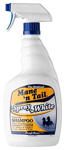 Mane 'n Tail White Spray On Shampoo Plus Conditioning 32 Oz