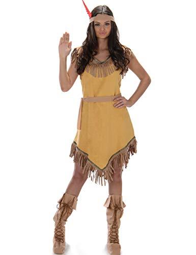 Indian Princess Costume Set - Halloween Womens Native American Maiden, Medium