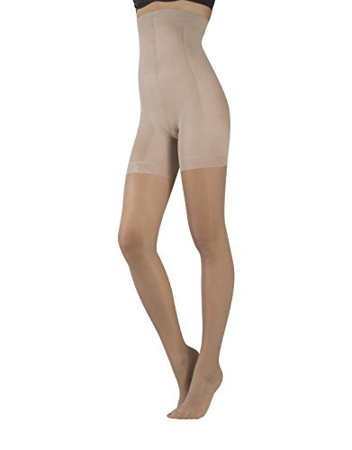 HIGH WAIST SHAPER TIGHTS   CONTROL BODY & LEG SUPPORT   SHAPING PANTYHOSE   S, M, L, XL, XXL   20 DEN   ITALIAN HOSIERY   (XL, SKIN)