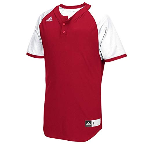 adidas Mens Diamond King 2.0 2-Button Henley Baseball Jersey
