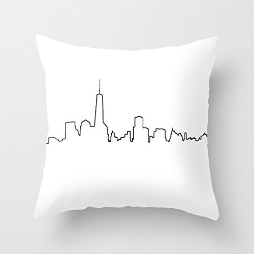 Decorative Pillow Case New York Life Line Cushion Cover 18