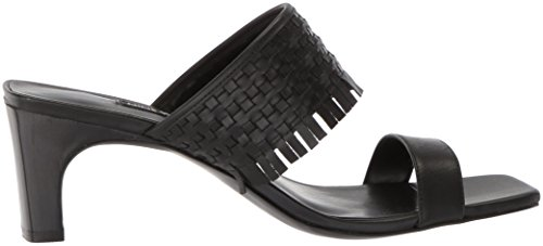 Sandalo Da Slitta Nove In Pelle Da Donna Nirveli In Pelle Nera