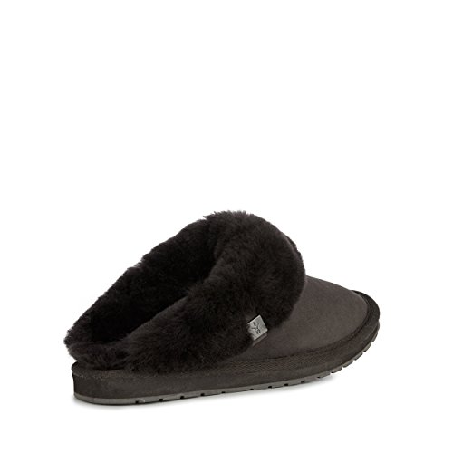 Slippers Sheepskin Charcoal Black EMU Platinum Eden Australia in Slipper Womens wOOBE8X